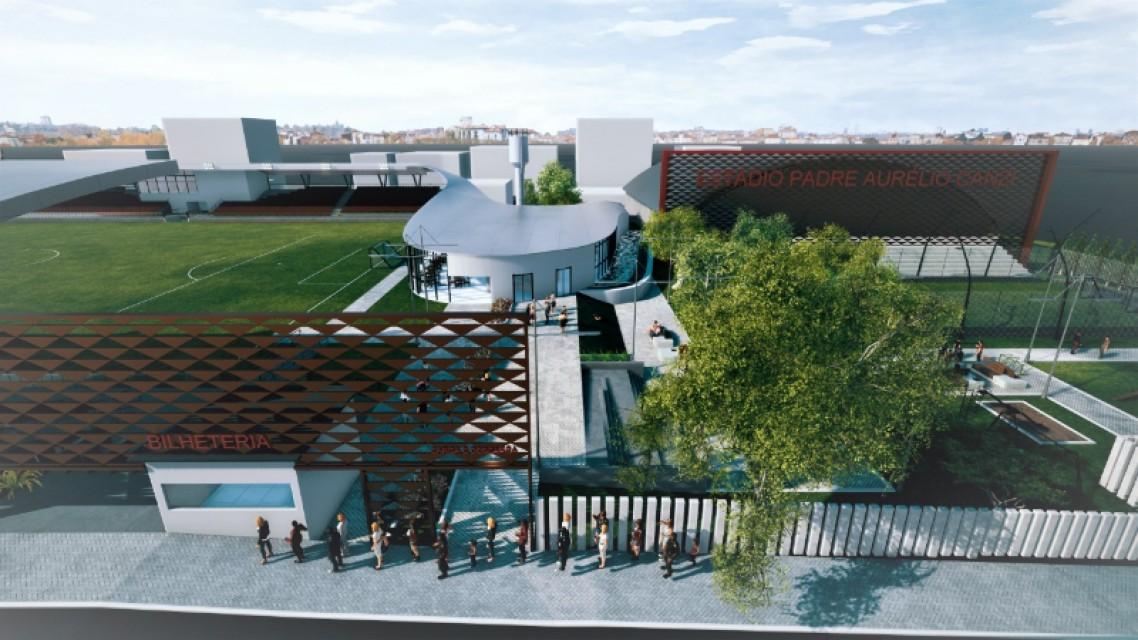 Arquiteta desenvolve novo projeto para o Estádio Padre Aurélio Canzi