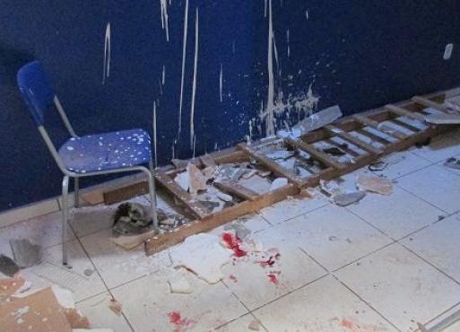 Pintor fica gravemente ferido em queda