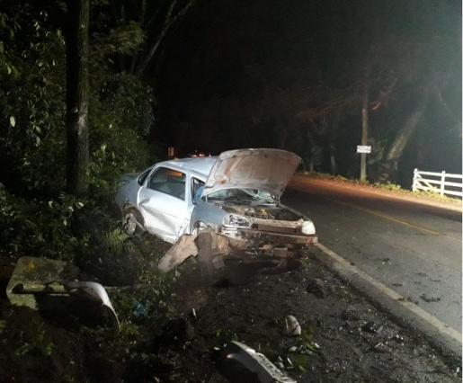 Motorista sofre ferimentos em acidente na SC-163 em Itapiranga