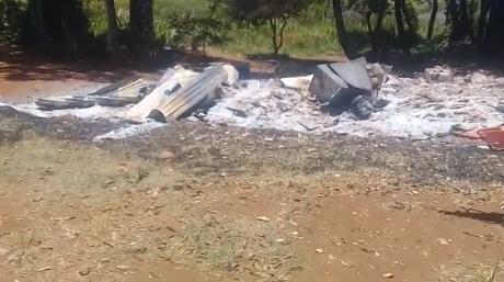 Incêndio deixa uma pessoa morta no interior de Guarujá do Sul