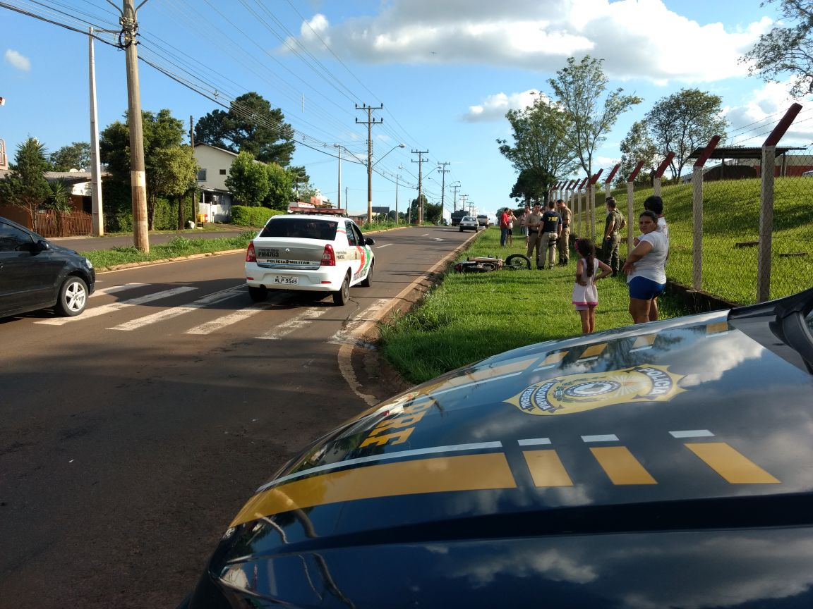 Colisão frontal em São Miguel do Oeste deixa duas pessoas feridas