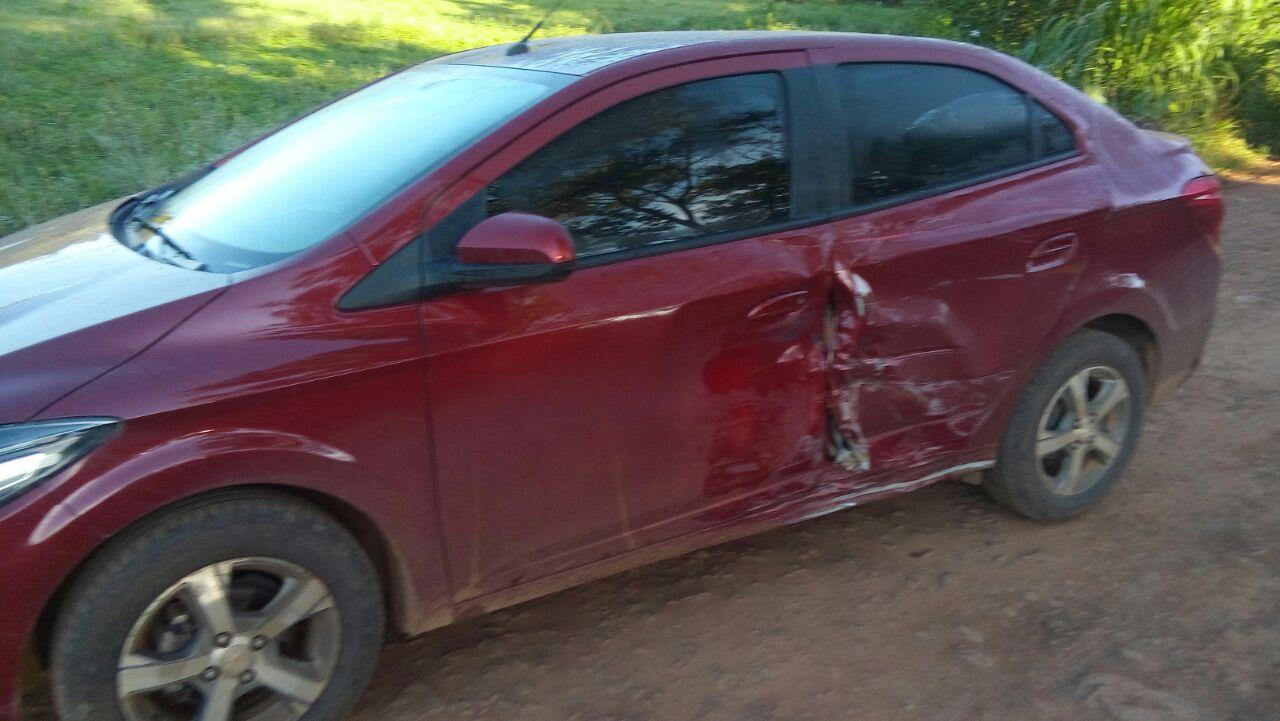 Colisão lateral deixa motociclista ferido no interior de Princesa