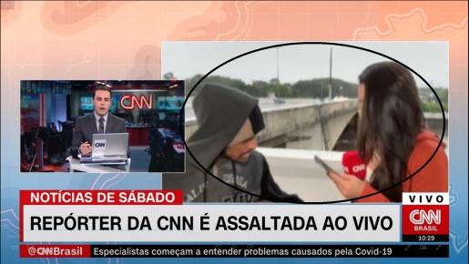 VÍDEO: Repórter da CNN é assaltada ao vivo em São Paulo
