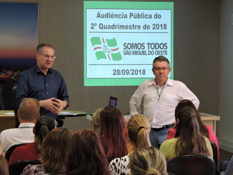 Municipalidade presta contas do 2º quadrimestre de 2018