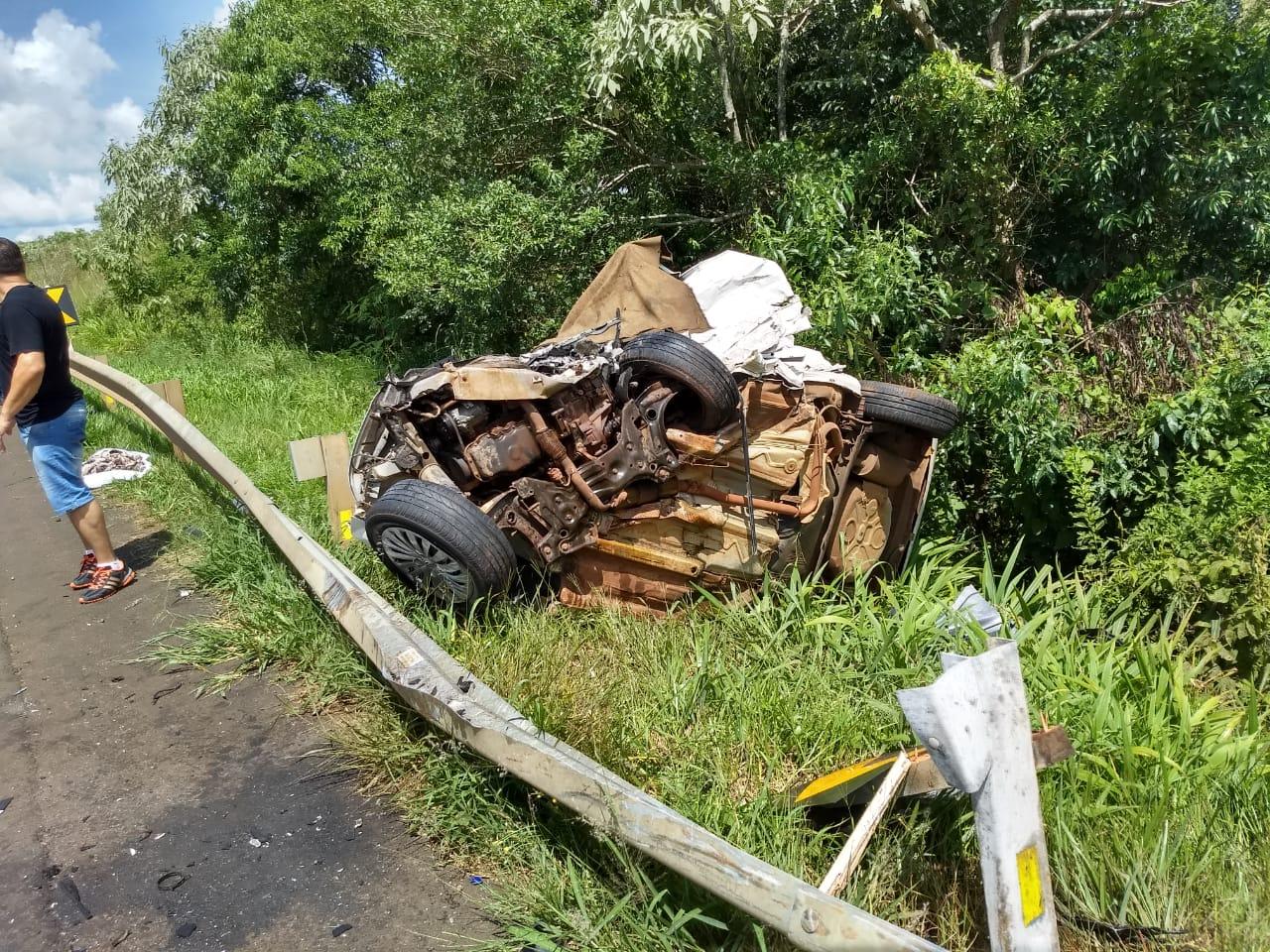 Identificado motorista morto em acidente na BR-280 em Dionísio Cerqueira