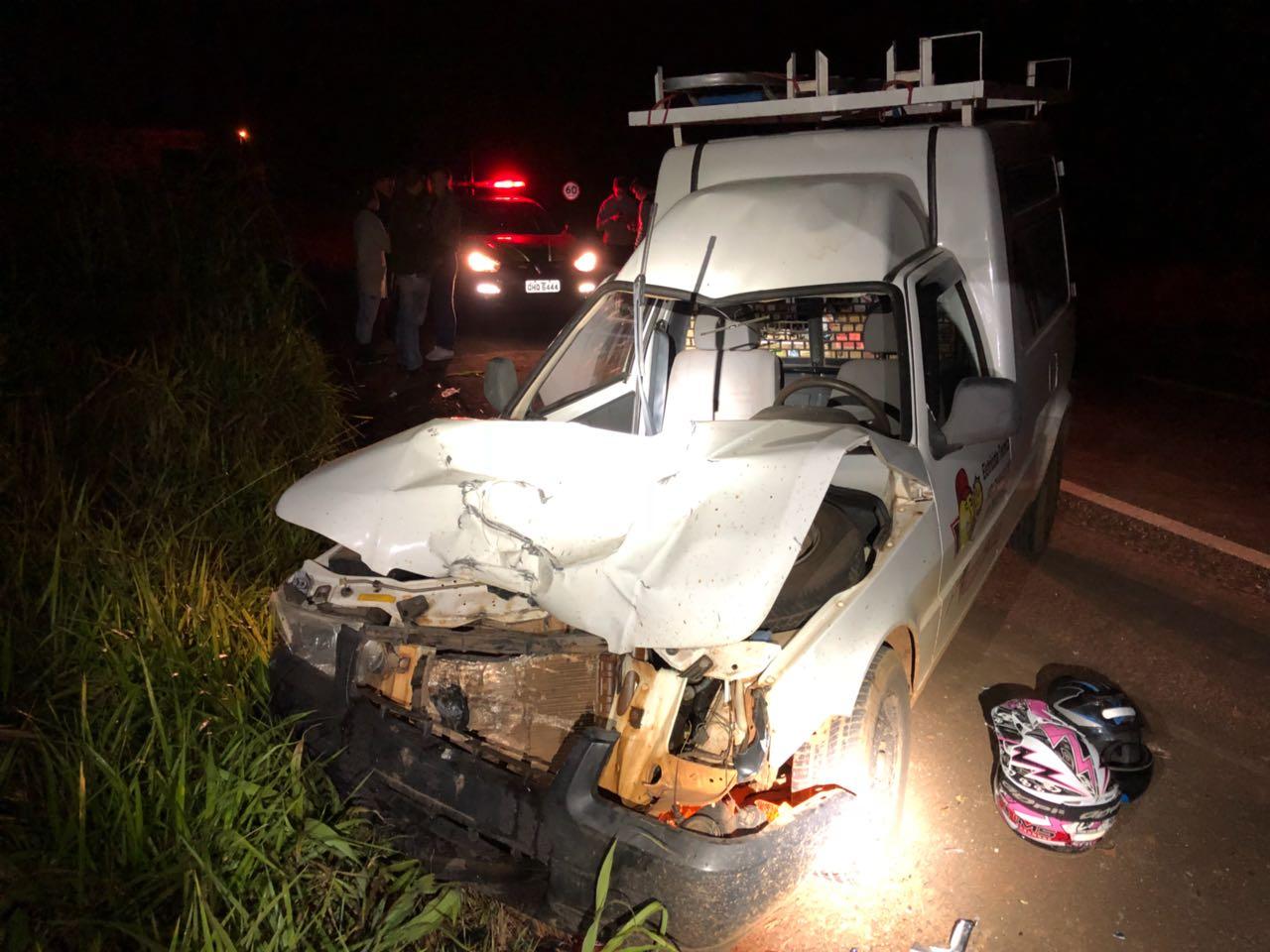 Colisão lateral seguida de colisão frontal deixa quatro feridos na BR 158