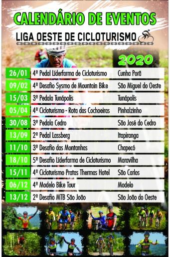 Grupos coletivos de ciclismo do Oeste lançam calendário de eventos do Cicloturismo
