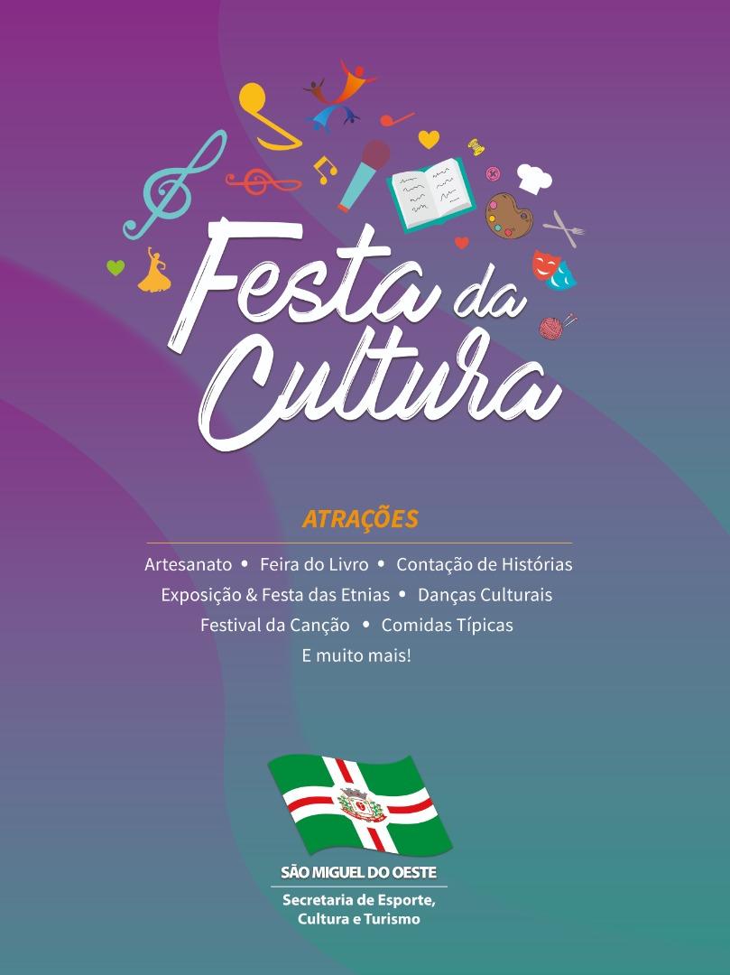 São Miguel do Oeste vivencia a Festa da Cultura na próxima semana