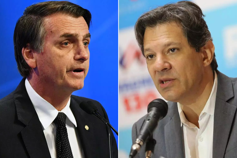 BTG/FSB: Bolsonaro tem 59% dos votos válidos; Haddad, 41%