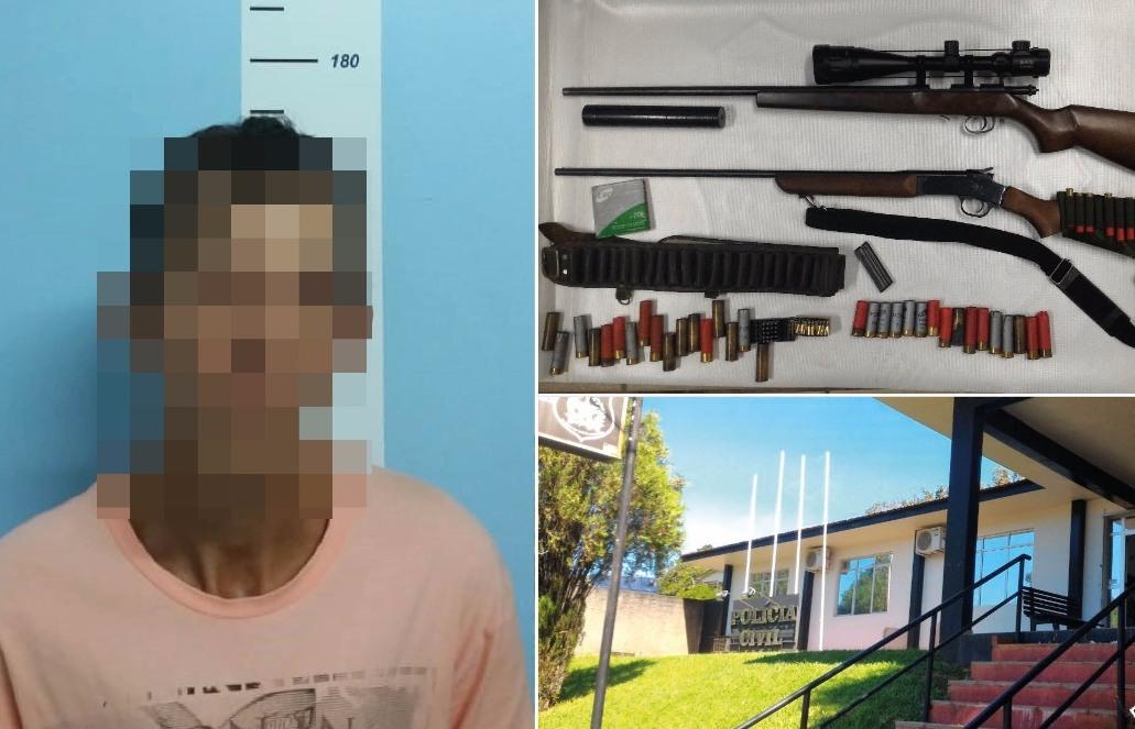 Polícia Civil prende uma pessoa e apreende armas e munições em operação