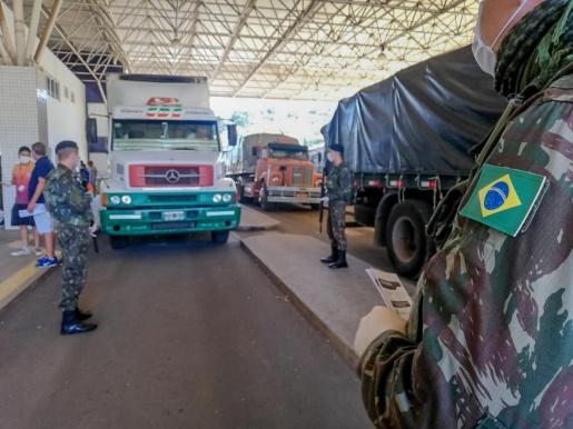 Militares do 14º RC Mec realizam a Operação COVID-19