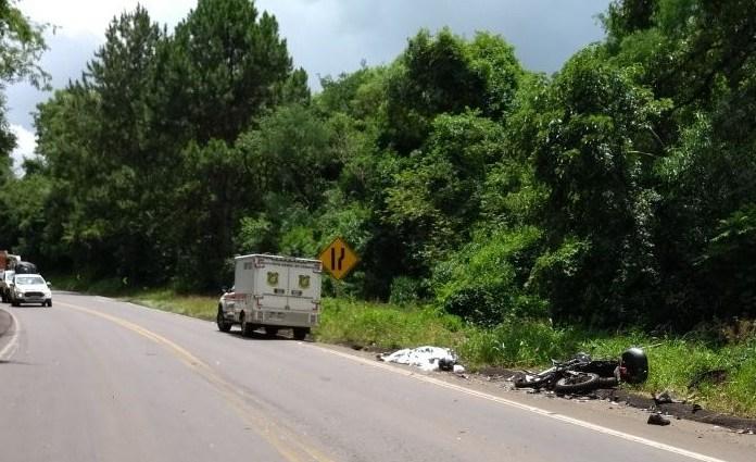 Policial Militar morre em grave acidente de moto na BR-282