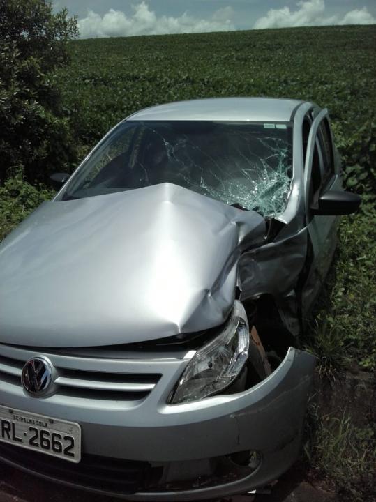 Colisão deixa motorista ferido na SC-161