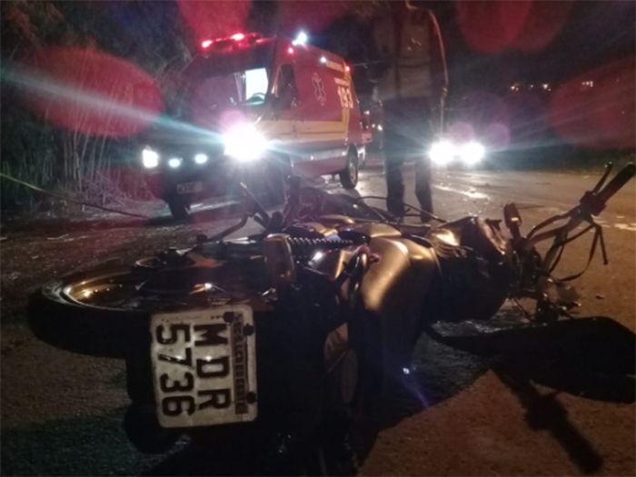 Colisão frontal mata motociclista em São Lourenço do Oeste