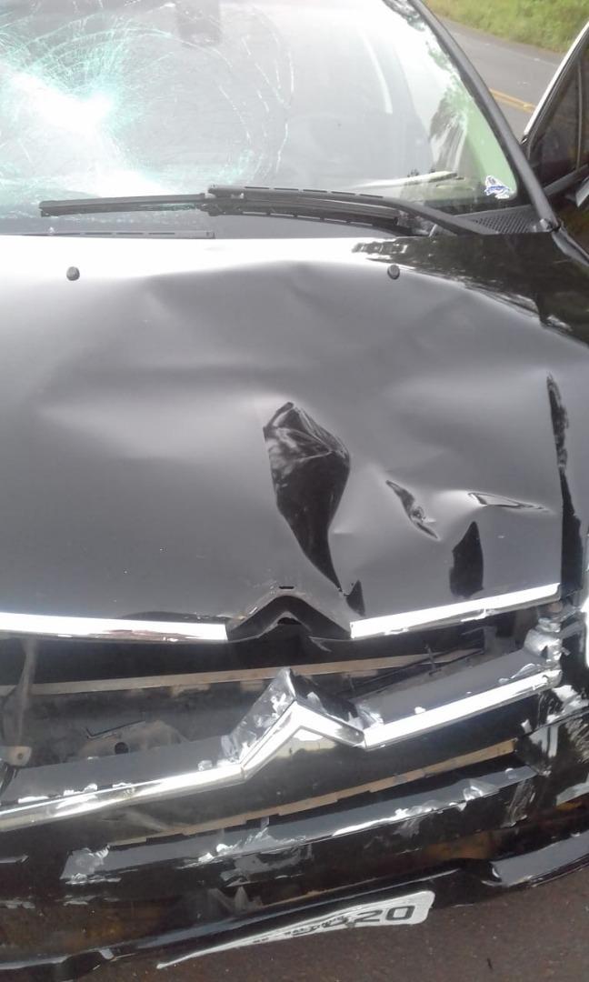 Colisão na SC 160 deixa homem ferido gravemente