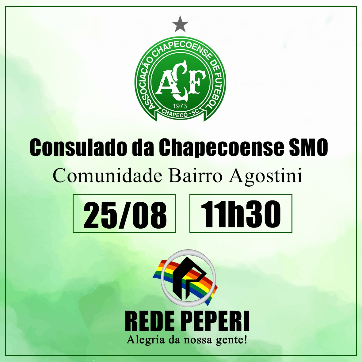 Peperi transmite Show de Bola direto do bairro Agostini