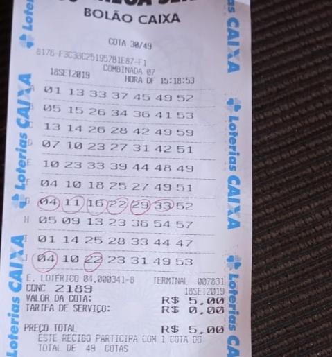 Assessor do PT vencedor de bolão volta a ganhar na Mega-Sena