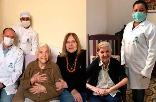 Irmãs de 96 e 100 anos se curam juntas da Covid-19 no Mato Grosso do Sul