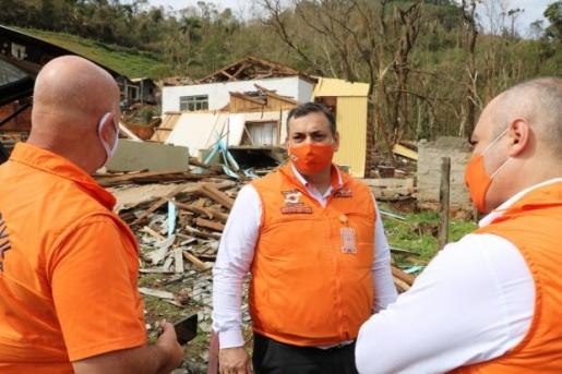 Defesa Civil presta auxílio humanitário a municípios atingidos por eventos climáticos