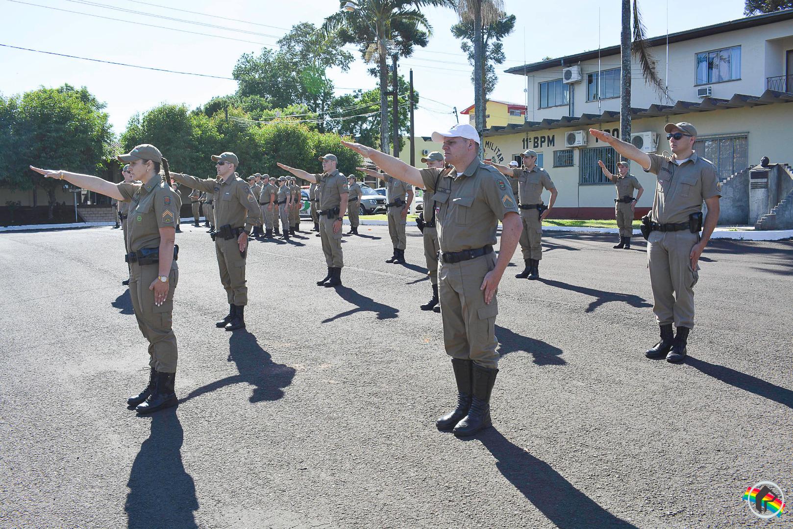 Polícia realiza formatura de cabos militares em São Miguel do Oeste