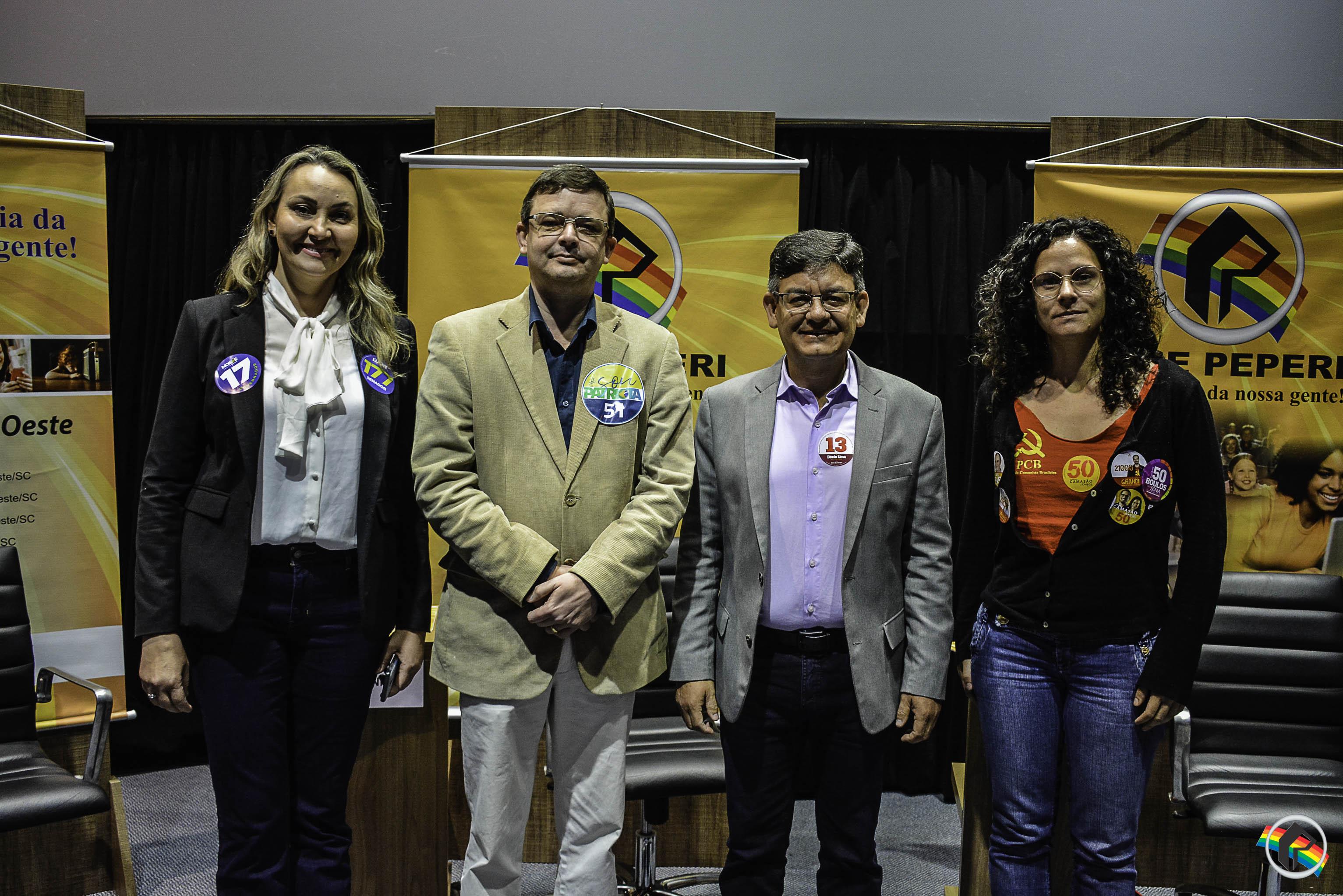 AO VIVO: Quatro candidatos a vice-governador debatem na Peperi