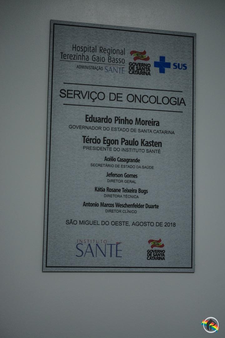 VÍDEO: Setor de Oncologia é inaugurado em São Miguel do Oeste