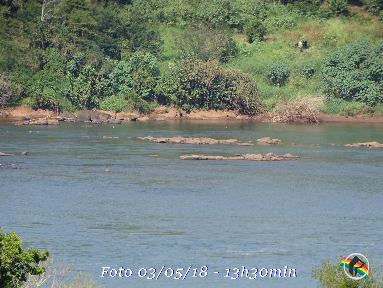 Falta de chuva deixa Rio Uruguai com baixo nível de água