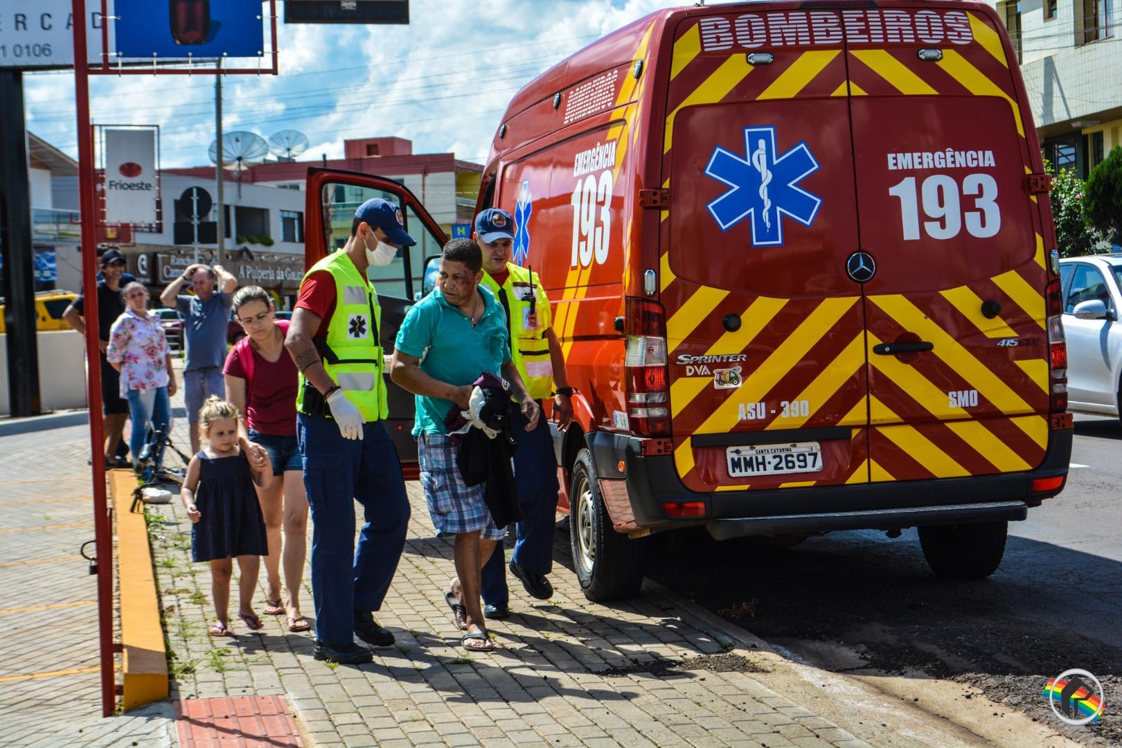 Ciclista fica ferido em queda na Willy Barth em São Miguel do Oeste