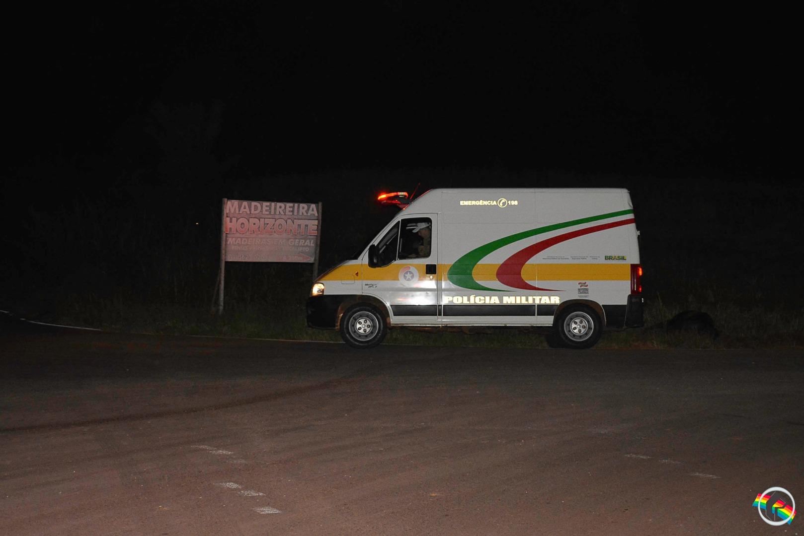 VÍDEO: Cavalo causa acidente e uma pessoa fica ferida na SC-496, em Descanso