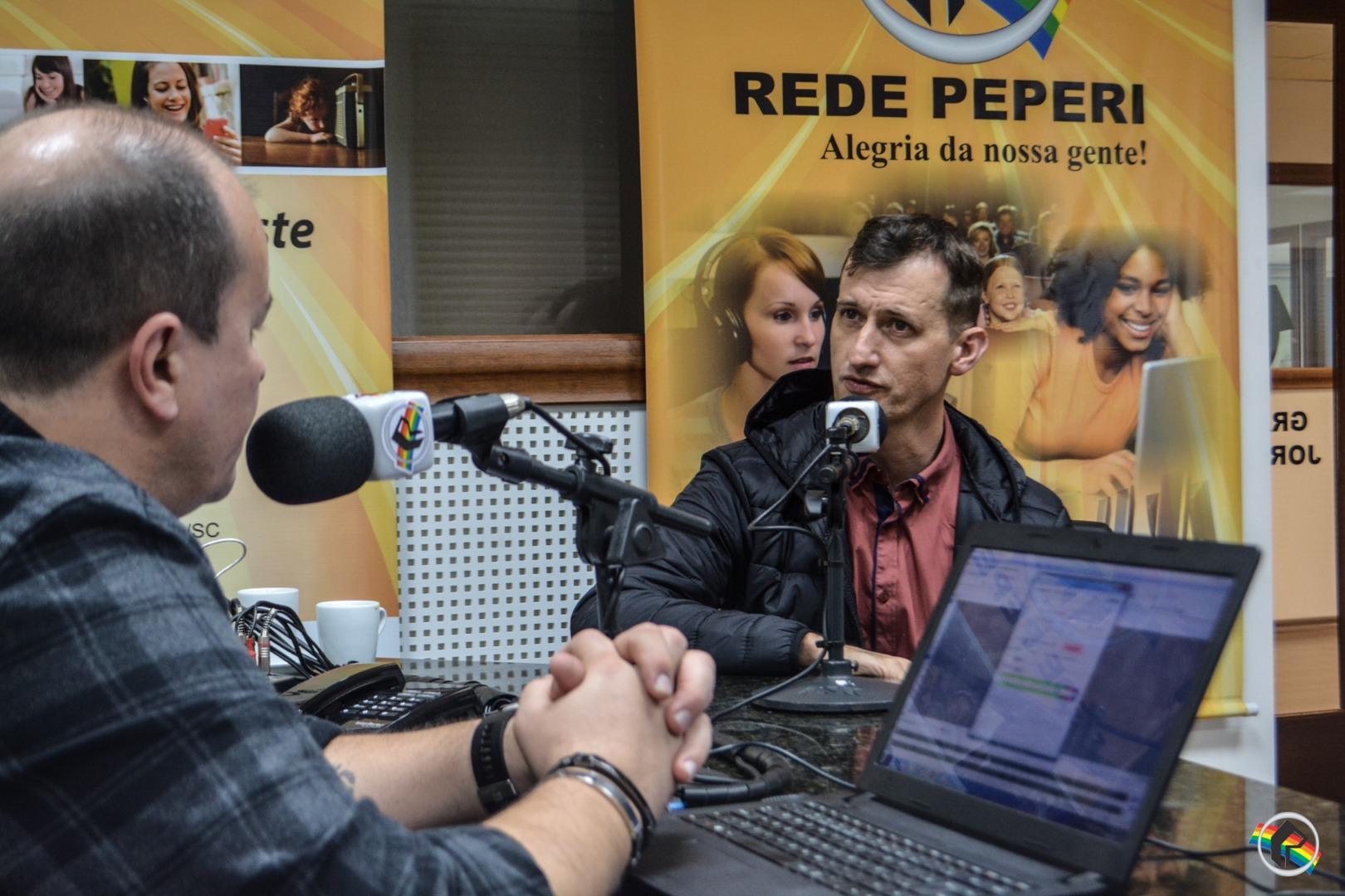 Peperi recebe o empresário Edney Prigol da Disk Fácil