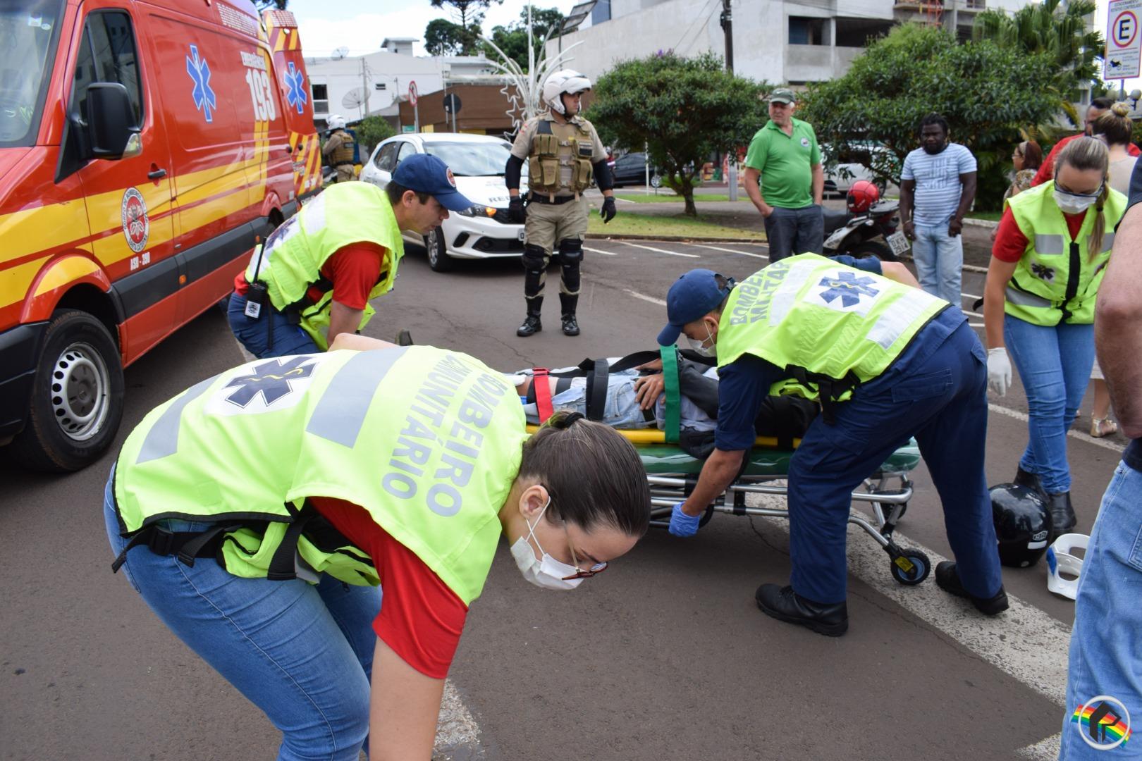 Motoboy sofre ferimentos após queda em São Miguel do Oeste