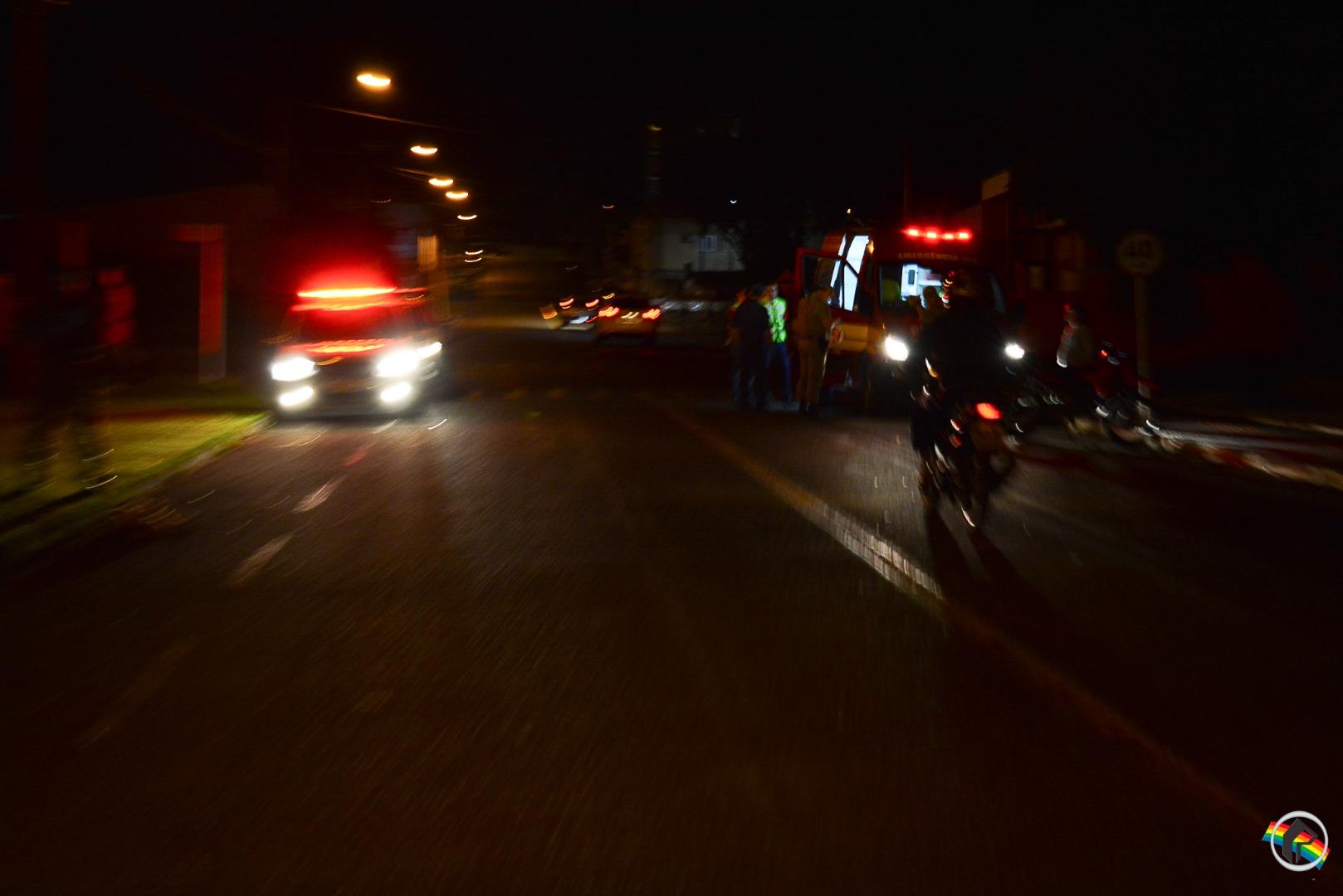 Motociclista sofre queda ao atropelar cachorro em SMOeste