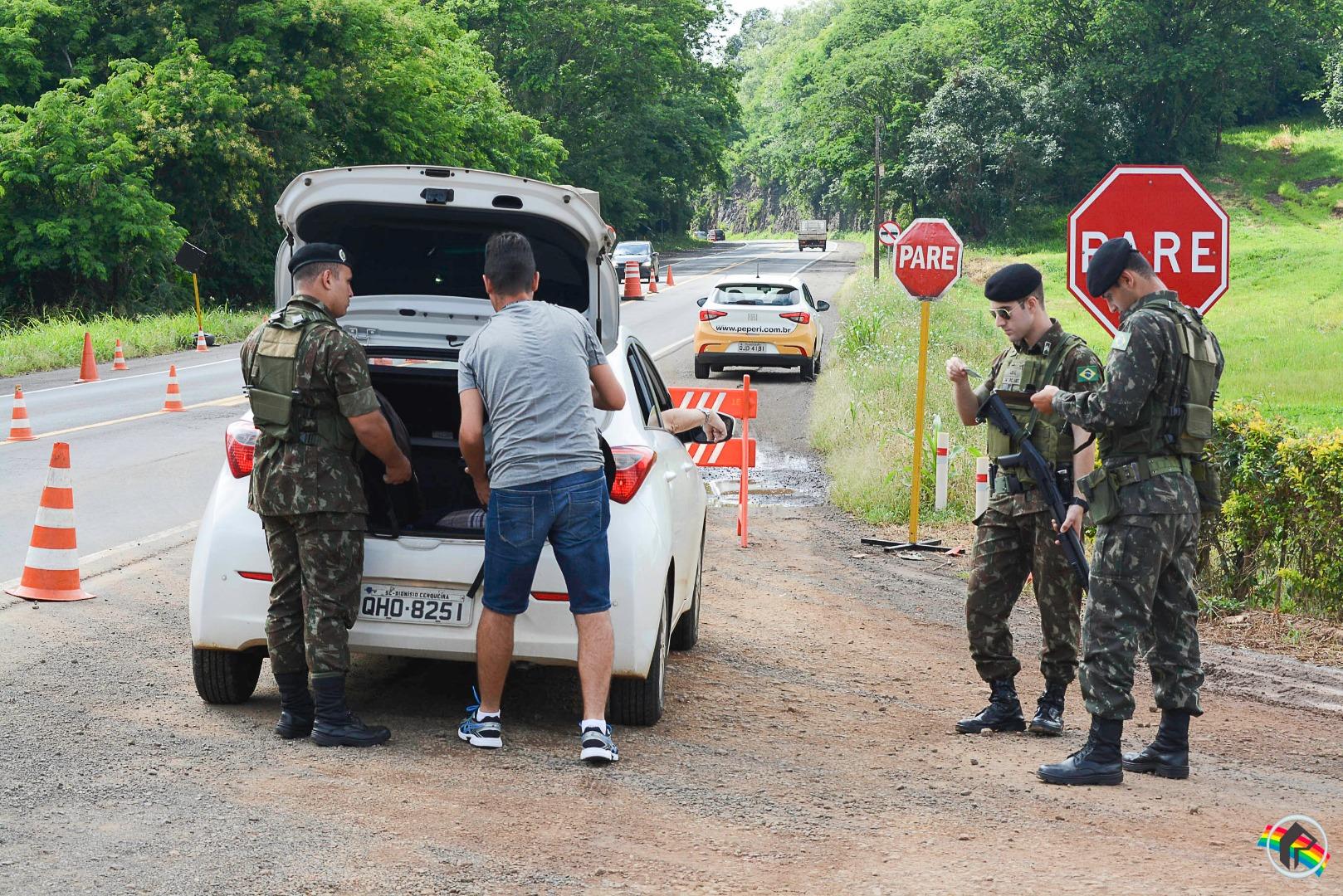 Militares do 14ºRCMec participam da Operação Ágata na região