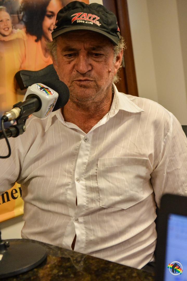 Emocionado, presidente da Câmara de Bandeirante participa do Retrato Falado