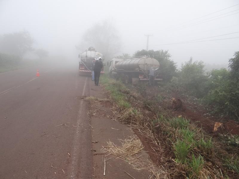 Risco de acidentes aumenta com a formação de neblina