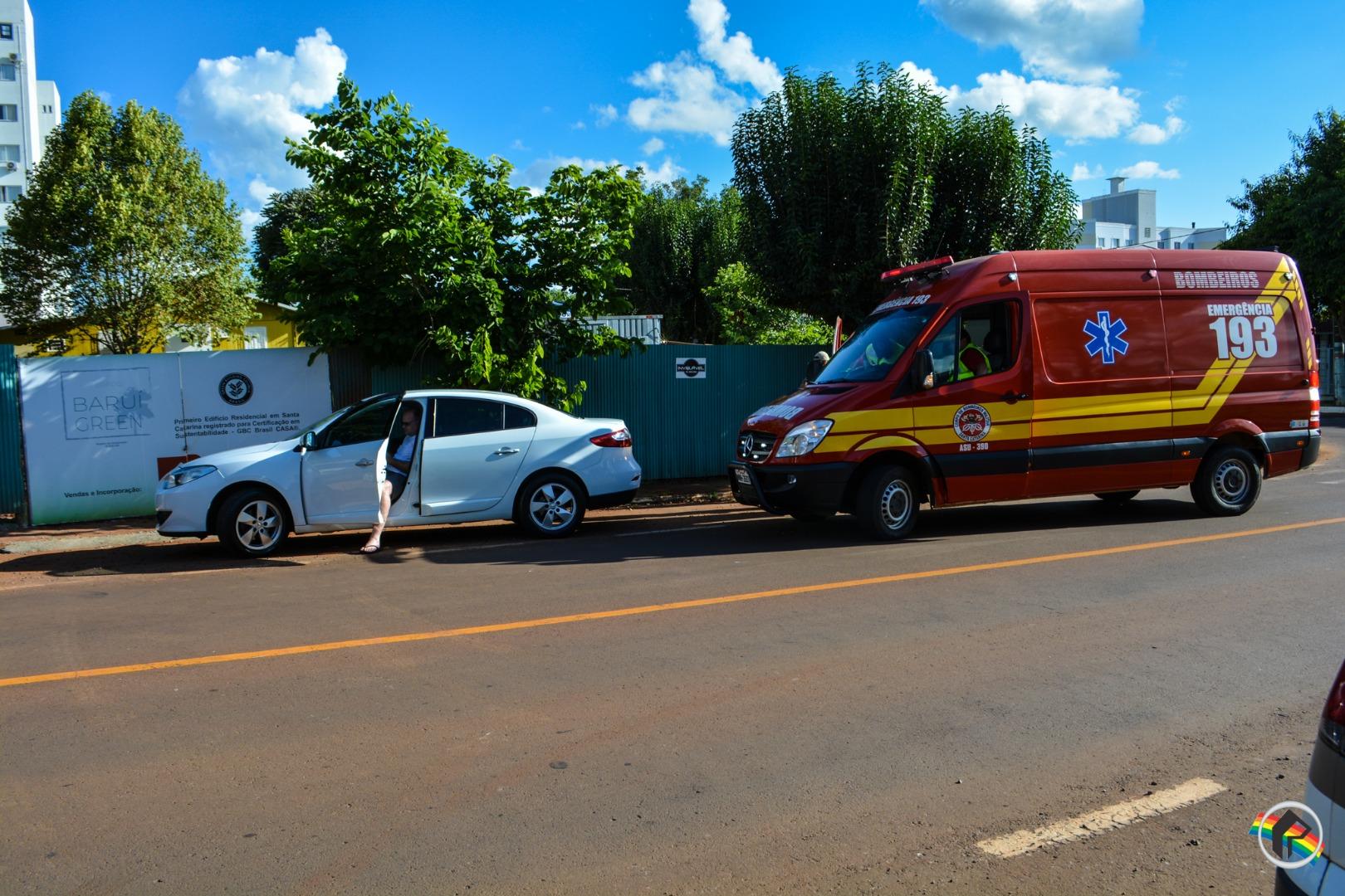 VÍDEO: Mulher fica ferida em colisão no centro do município