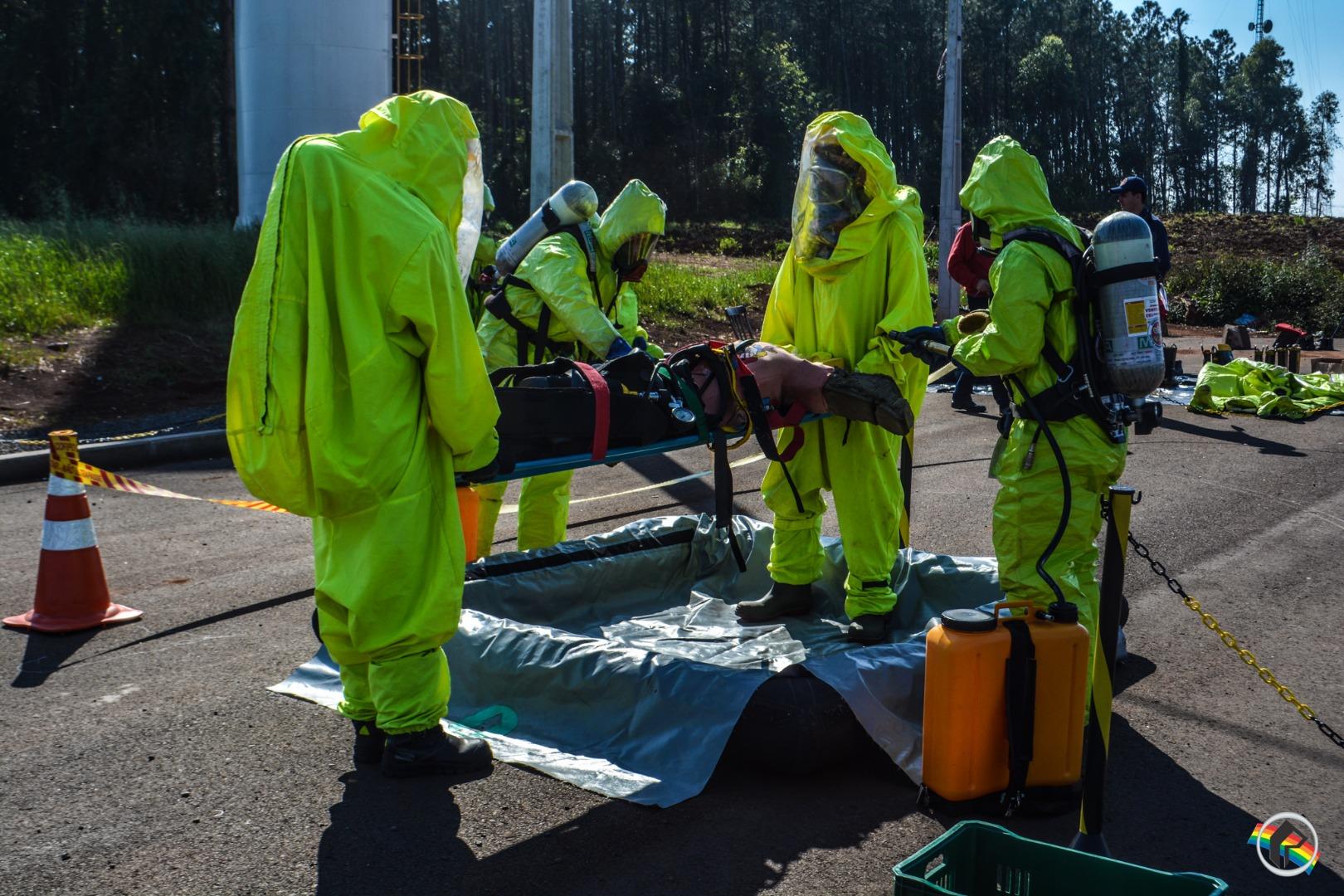 Alunos Soldados participam de treinamento de produtos perigosos