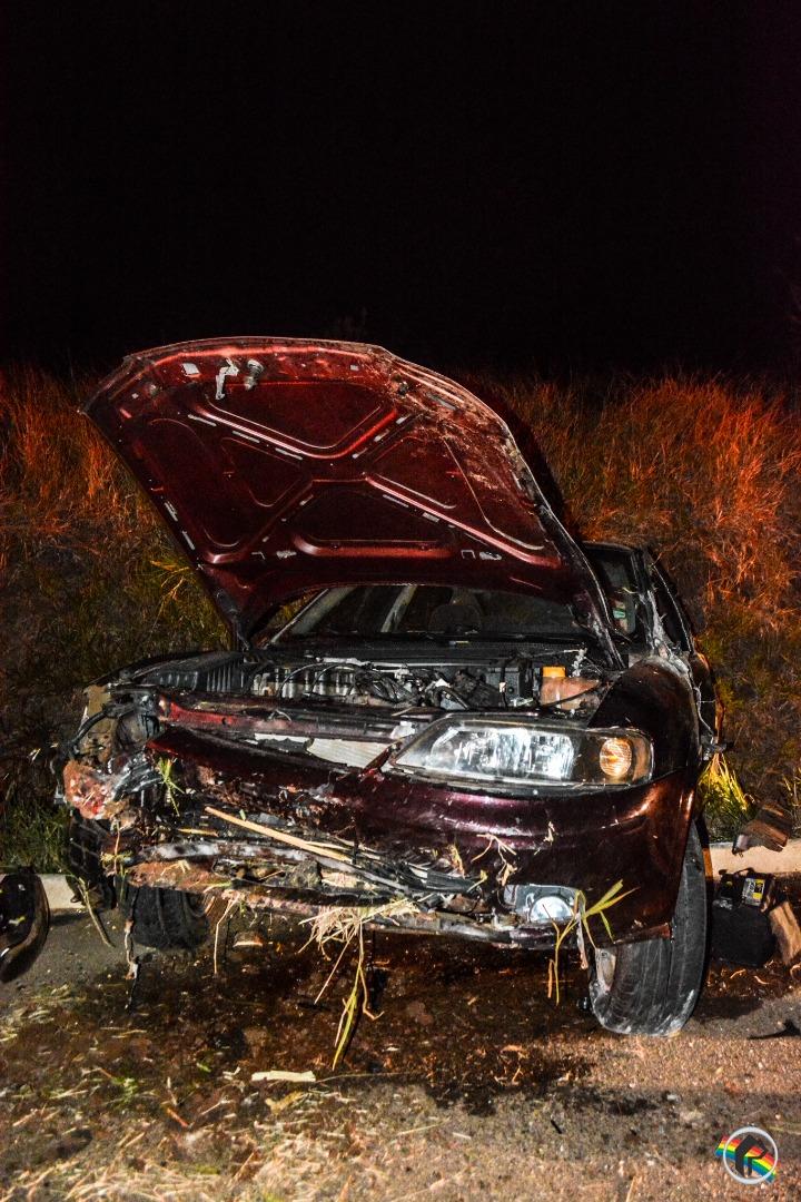 Saída de pista deixa condutor ferido em São Miguel do Oeste
