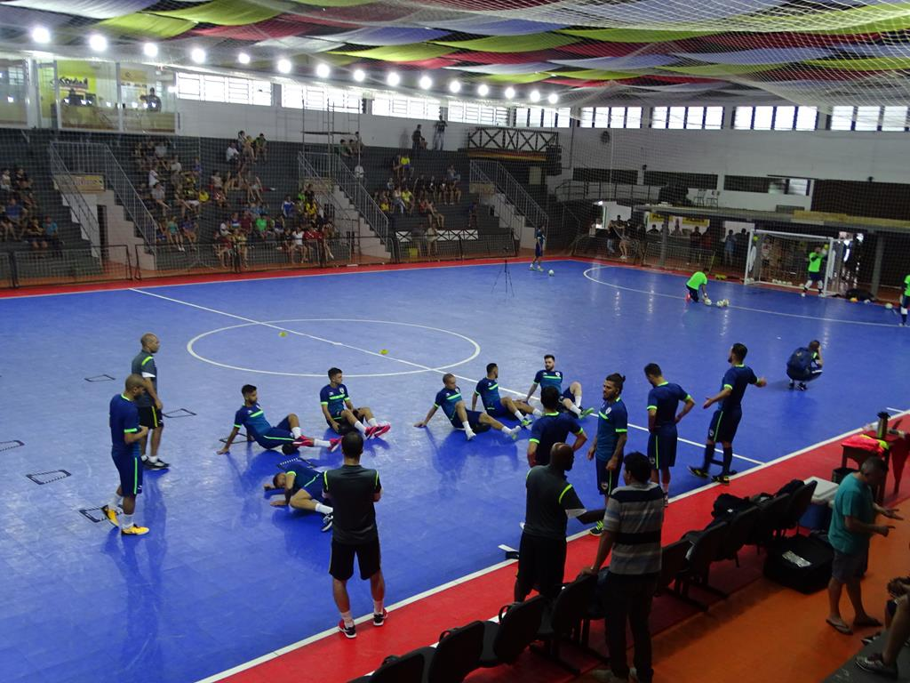 Primeiro dia de treino da Seleção Brasileira de Futsal ocorre em Itapiranga
