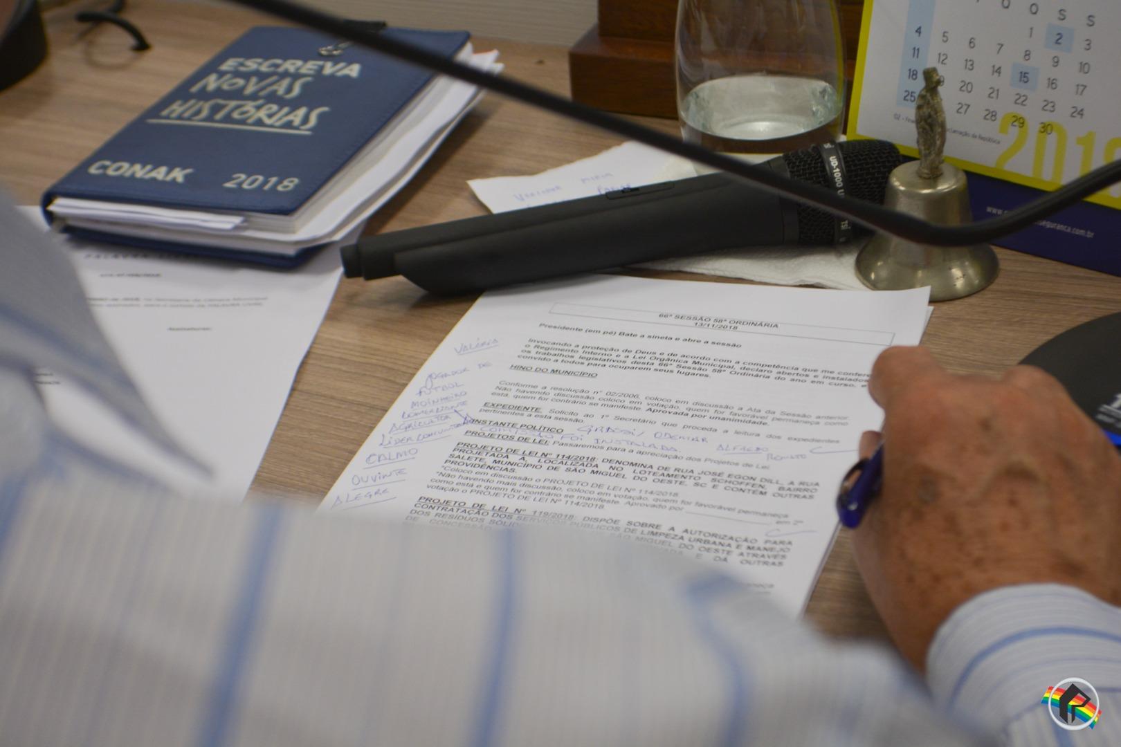 Vereadores aprovam projeto sobre parceria público-privada