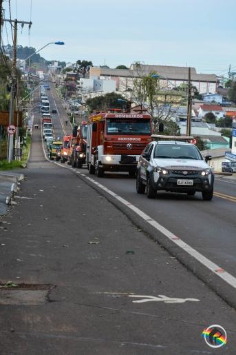 Carreata celebra o Dia do Colono e do Motorista em São Miguel do Oeste