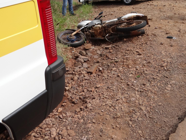 Motociclista fica ferido em colisão de veículos na SC 496 em Descanso
