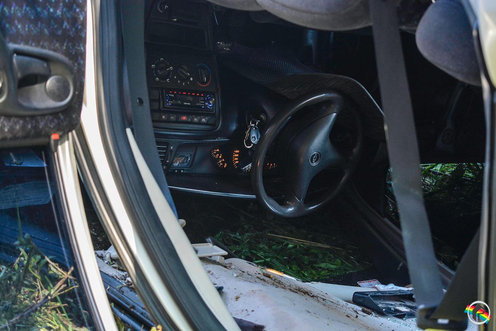VÍDEO: Veículo sai da pista e capota na SC-492 em São Miguel do Oeste