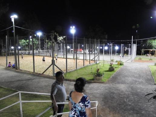 Praça Belarmino Annoni recebe nova iluminação em LED