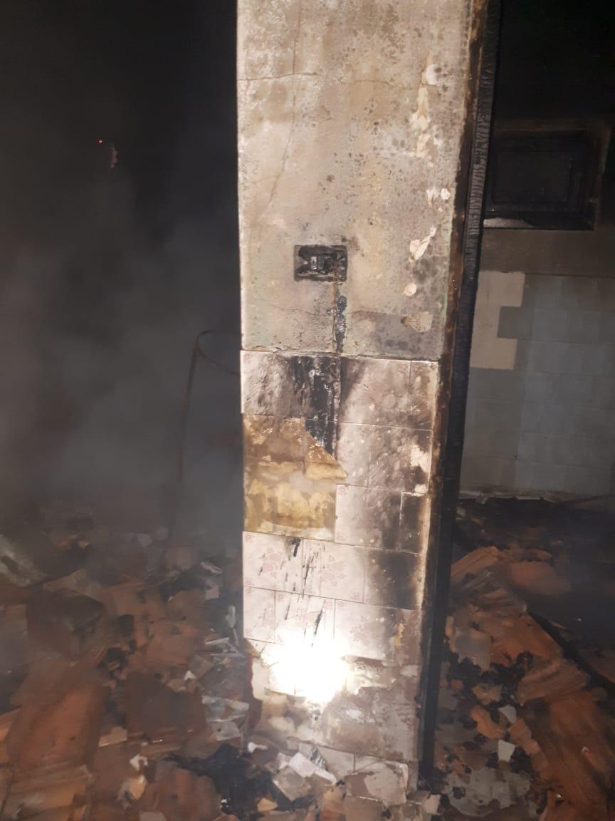 Incêndio danifica residência no interior de Iporã do Oeste