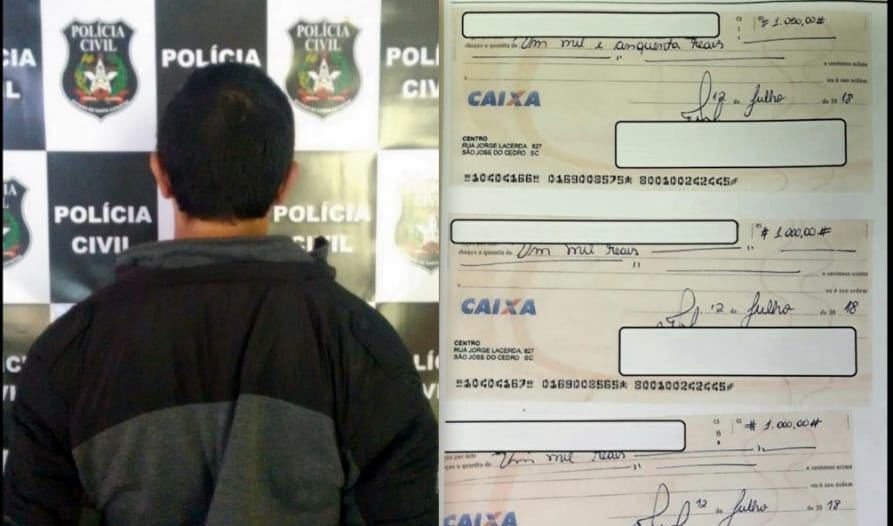Autor de estelionatos em São José do Cedro é preso