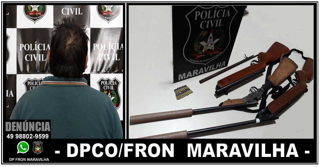 Polícia Civil prende homem por posse irregular e adulteração de arma de fogo