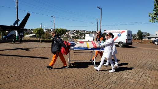 SAER realiza transferência de paciente de Iporã do Oeste para o hospital regional