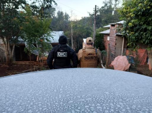 Em andamento: Polícia Civil realiza operação de combate ao tráfico de drogas em Cunha Porã