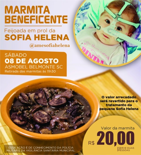 Grupo de amigos de Belmonte promove feijoada beneficente em prol da Sofia Helena